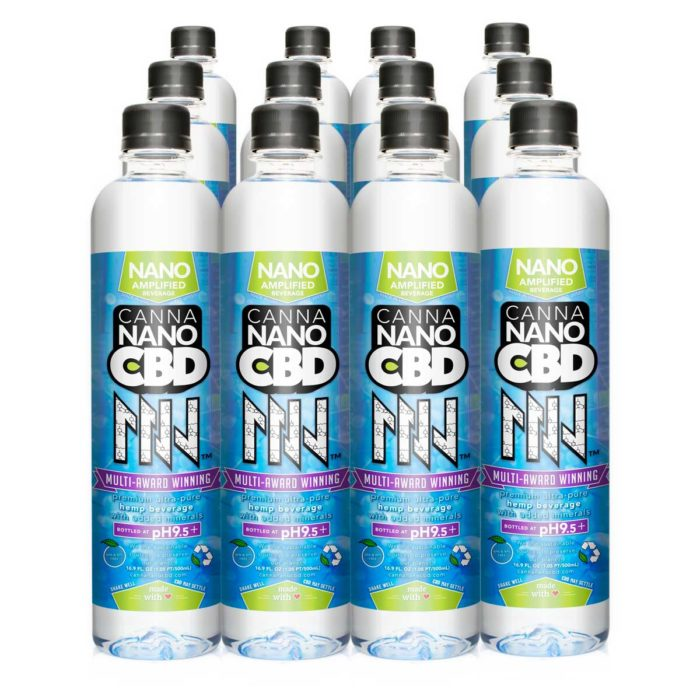 CannaNano CBD Water Twelve Pack