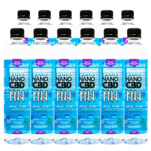 CannaNano CBD Alkaline Water Bottle 12 pack