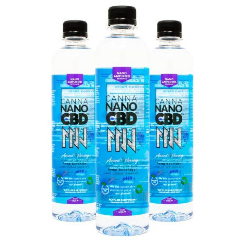 CannaNano CBD Alkaline Water Bottle 3 pack