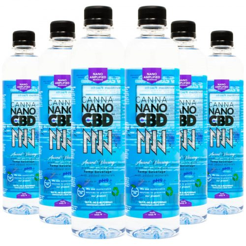 CannaNano CBD Alkaline Water Bottle 6 pack