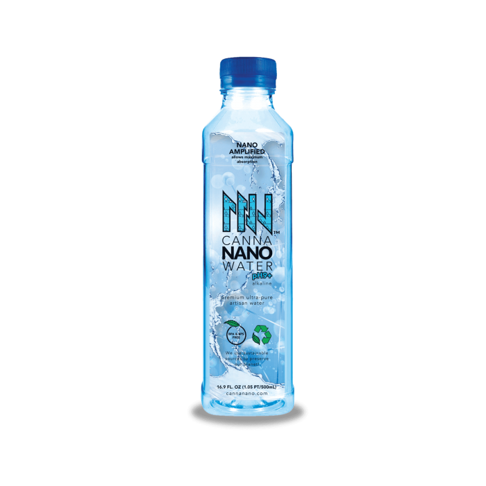 Canna Nano CBD Water Plus Case Bottle