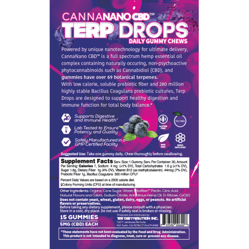 Terp Drops Blueberry Back